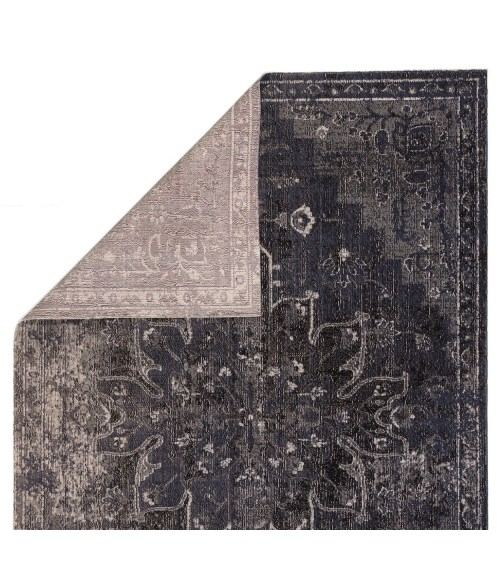 "Jaipur Living Isolde Indoor/ Outdoor Medallion Blue/ Black Runner Rug (2 8""X10 )"