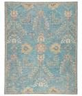"Jaipur Living Juniper Handmade Oriental Teal/ Orange Area Rug (7 10""X9 10"")"