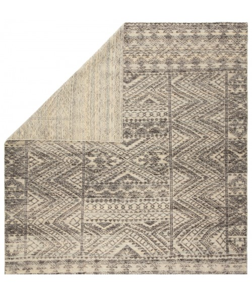 """Jaipur Living Prentice Hand-Knotted Geometric Dark Gray/ Taupe Area Rug (8 10""""X13 )"""