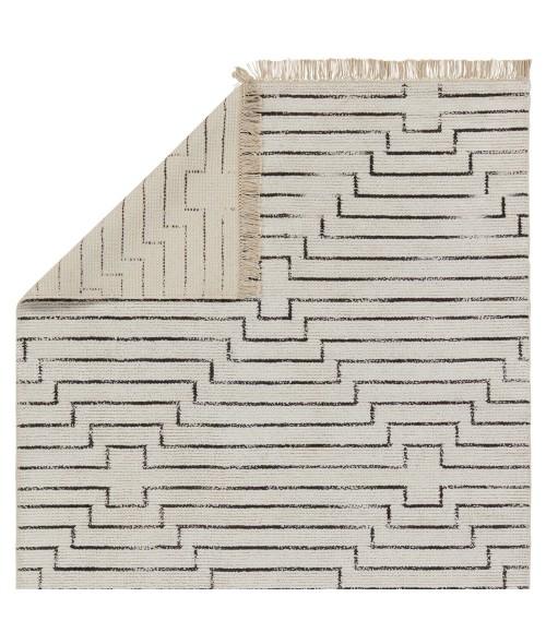 """Jaipur Living Alloy Handmade Geometric White/ Black Runner Rug (2 6""""X10 )"""