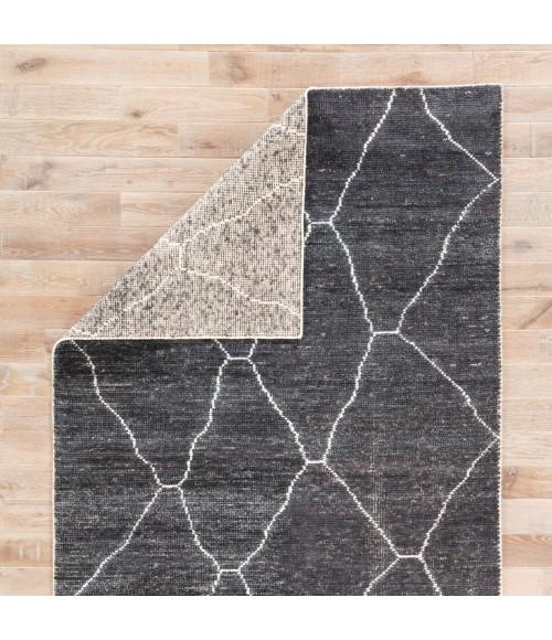 "Jaipur Living Carmine Handmade Geometric Dark Gray/ Blue Runner Rug (2 6""X10 )"