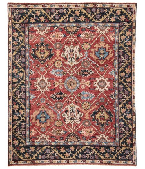 Jaipur Living Aika Hand-Knotted Medallion Red/ Multicolor Area Rug (10 X14 )