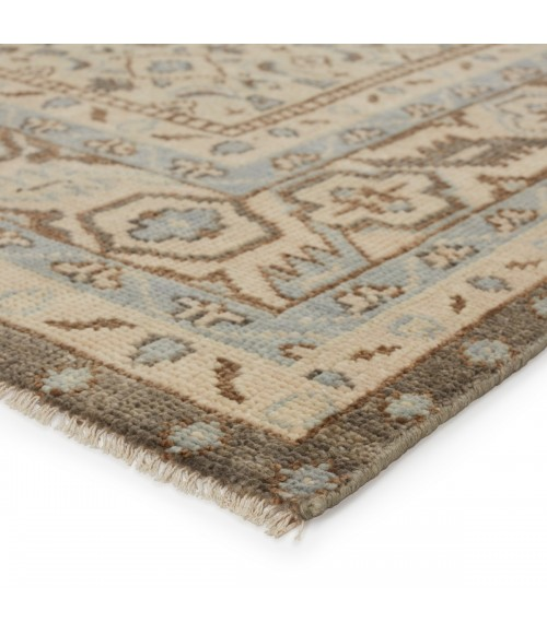 """Jaipur Living Farwell Hand-Knotted Medallion Blue/ Ivory Area Rug (8 6""""X11 6"""")"""