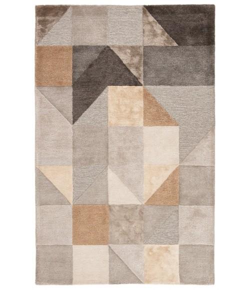 Jaipur Living Penta Handmade Geometric Gray/ Gold Area Rug (5 X8 )
