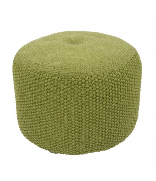 Jaipur Living Rustic Pouf Rustic Rus03 Spinach Green Polyester 20   x 14   Cuboid