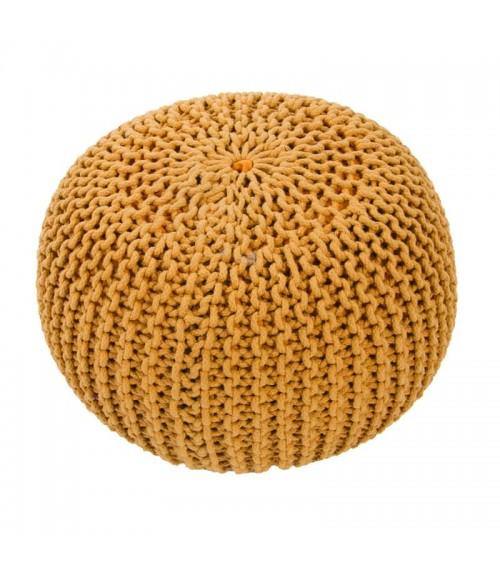Jaipur Yellow Silk Living Spectrum Pouf Stp01 Corn 20   x 14   Cylind