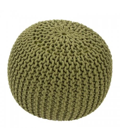 Jaipur Green Cotton Living Spectrum Pouf Stp03 Fern 20   x 14   Cylindrical