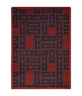 Any Day Matinee Joy Carpets 1666-Admit One-Burgundy-58-rect