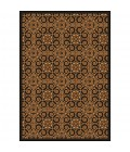 Any Day Matinee Joy Carpets 1737-Antique Scroll-Brown-811-rect