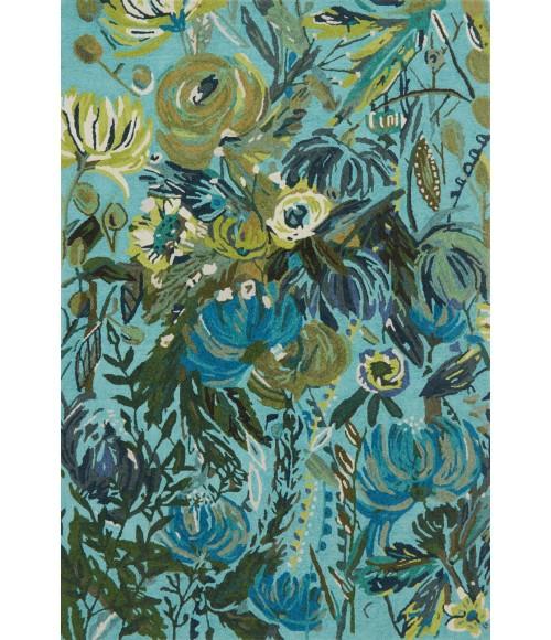 Loloi Wild Bloom WV-03-Aqua-Green-5x8 Rug