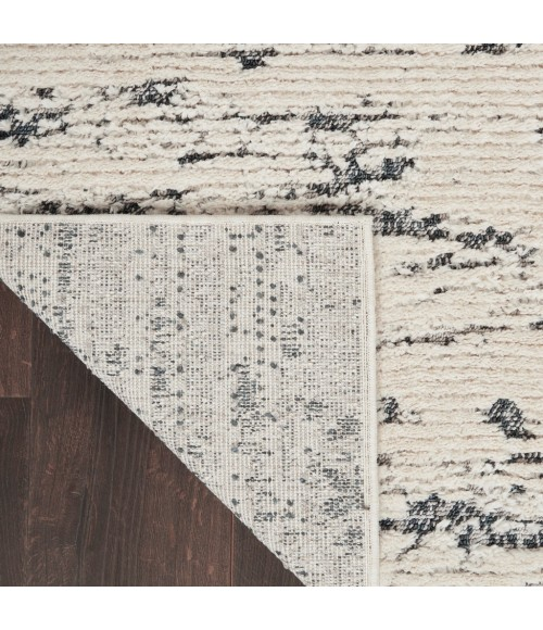 Nourison Textured Contemporary Runner Area Rug TEC03-Ivory Blue