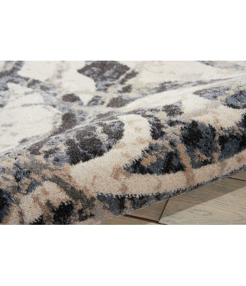 Nourison Maxell Area Rug MAE10-Ivory/Charcoal