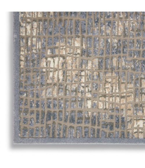 kathy ireland Home Sahara Area Rug KI395-Blue/Grey