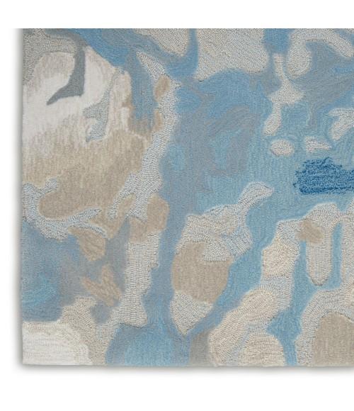 Nourison Symmetry Area Rug SMM07-Light Blue/Ivory