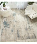 Nourison Maxell Area Rug MAE17-Ivory/Teal