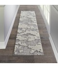 Nourison Textured Contemporary Runner Area Rug TEC01-Ivory/Grey