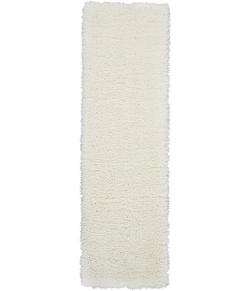 Nourison Ultra Plush Shag Runner Area Rug ULP01-Ivory