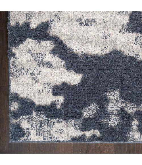 Nourison Textured Contemporary Area Rug TEC01-Blue/Grey