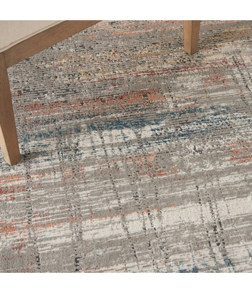 Nourison Rustic Textures Area Rug RUS12-Grey/Multi