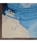 Nourison Symmetry Area Rug SMM01-Blue/Ivory