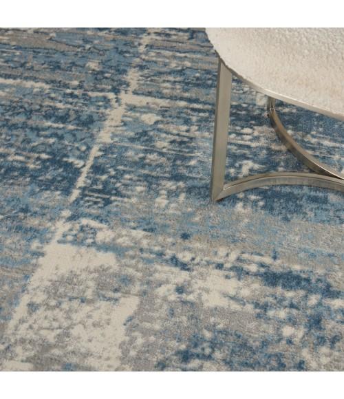 Nourison Solace Area Rug SLA02-Ivory/Grey/Blue