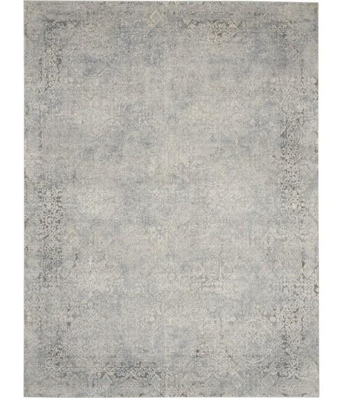 Nourison Rustic Textures Area Rug RUS09-Ivory/Light Blue