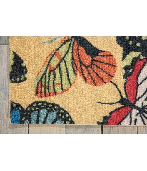 Nourison Home & Garden Area Rug RS018-Yellow