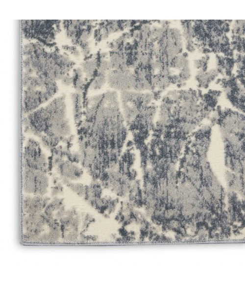 kathy ireland Home Sahara Runner Area Rug KI393-Ivory/Slate
