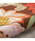 Nourison Fantasy Round Area Rug FA18-Chocolate