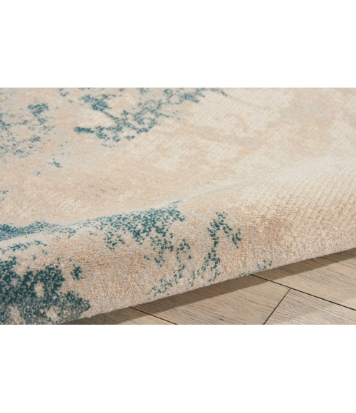 Nourison Maxell Area Rug MAE13-Ivory/Teal