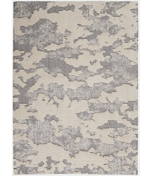 Nourison Textured Contemporary Area Rug TEC01-Ivory/Grey