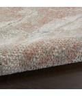 Nourison Rustic Textures Area Rug RUS15-Light Grey/Rust