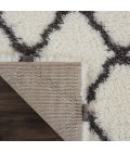 Nourison Ultra Plush Shag Runner Area Rug ULP02-Ivory/Charcoal