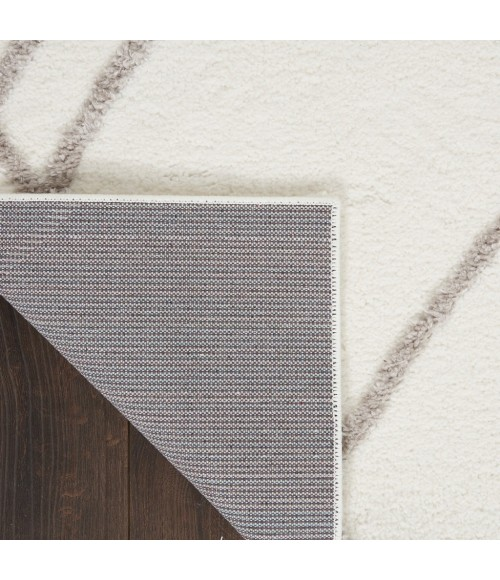 Nourison Feather Soft Area Rug FEA02-Ivory Grey