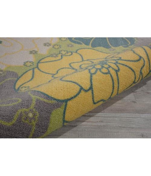 Nourison Home & Garden Square Area Rug RS021-Green
