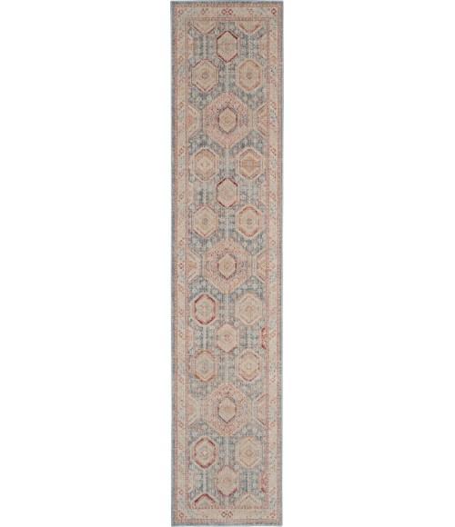 Nourison Enchanting Home Runner Area Rug ENH01-Light Blue Multi