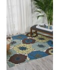 Nourison Home & Garden Square Area Rug RS021-Light Blue