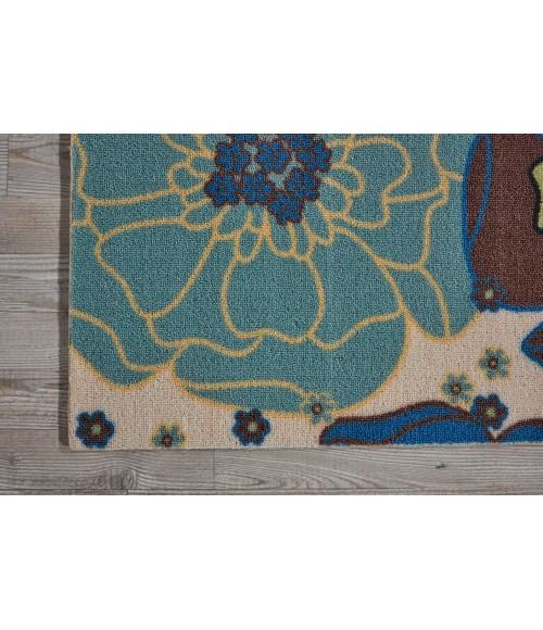 Nourison Home & Garden Runner Area Rug RS021-Light Blue