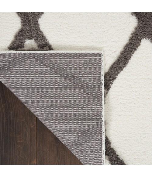 Nourison Feather Soft Area Rug FEA01-Ivory Charcoal