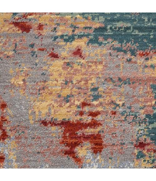 Nourison Artworks Area Rug ATW03-Silver/Grey/Yellow